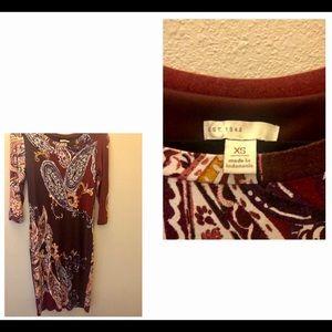 Cato paisley dress